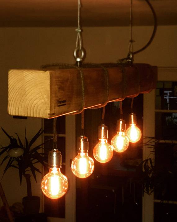 Yucwood Handmade Lighting Douglas One Brown 150cm