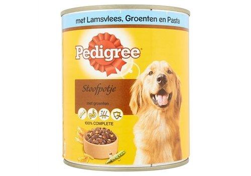 Pedigree Pedigree blik adult lam/groenten/pasta homestyle