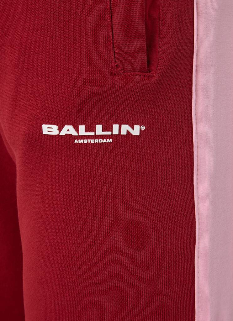 Ballin Amsterdam Striped Joggers Bordeaux / Roze Dames