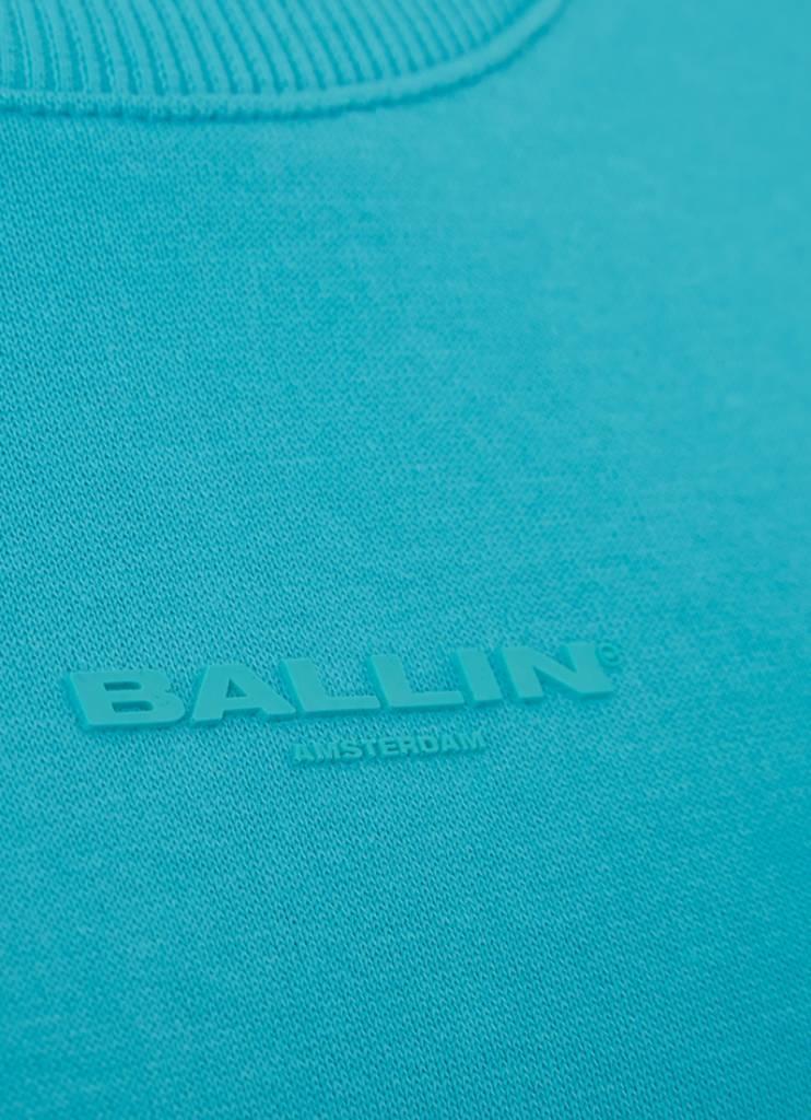 Ballin Amsterdam Damen Tape Crewneck Türkis