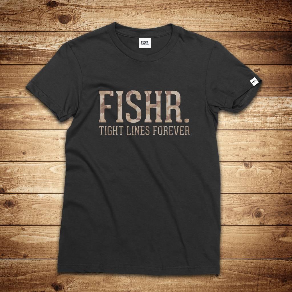 FISHR. FISHR. Classic Shirt Black Sandbank Camo
