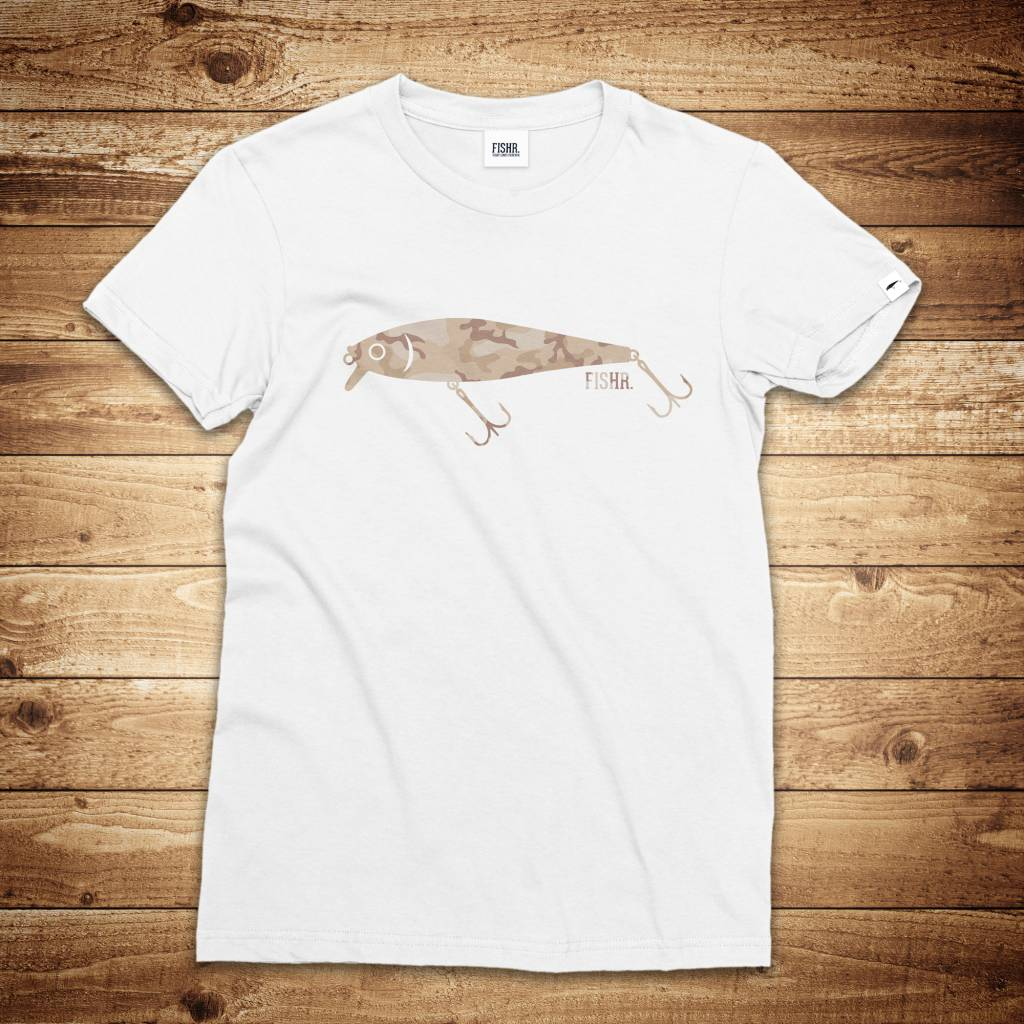 FISHR - Wobbler Shirt White Sandbank Camo