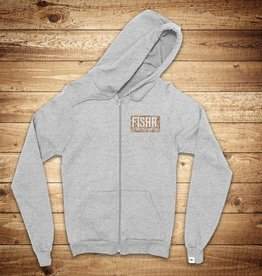 FISHR. Crew Hoodie Heather Grey Sandbank Camo