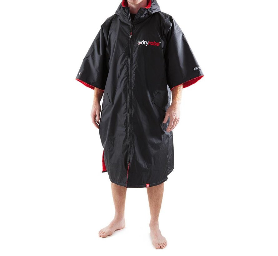 Dryrobe Shortsleeve Black-Red L