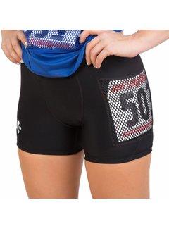 X-Racewear X-Racewear - Eng geschnittene Shorts mit Reißverschluss und Bib-Schutz