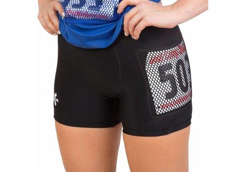 X-Racewear - Eng geschnittene Shorts mit Reißverschluss und Bib-Schutz