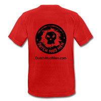 Dutch Mud Men Skull Sportshirt Red