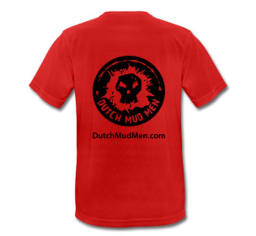 Dutch Mud Men Skull Sportshirt Red
