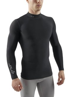 Sub Sports Sub Sports Cold Mock Heren Zwart Thermoshirt Winter