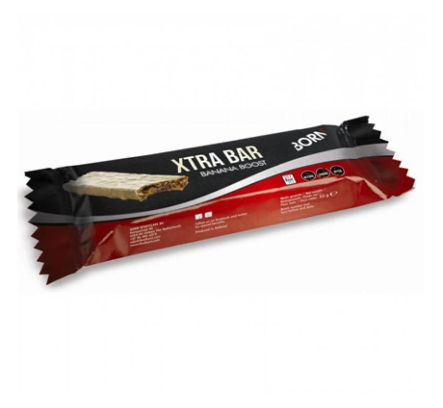 Born Xtra Bar (55 gram) - Smaak: caramel