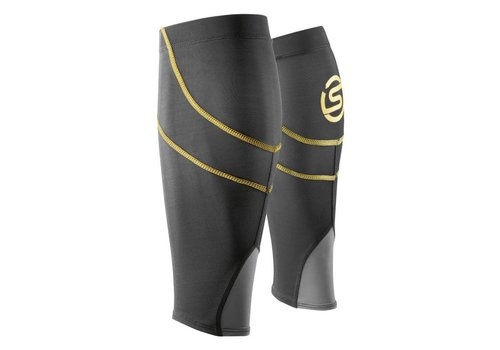 Skins Calf Tights Compression Tubes Black-Yellow