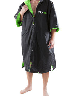 Dryrobe Dryrobe Advance Shortsleeve Zwart/Groen Maat L
