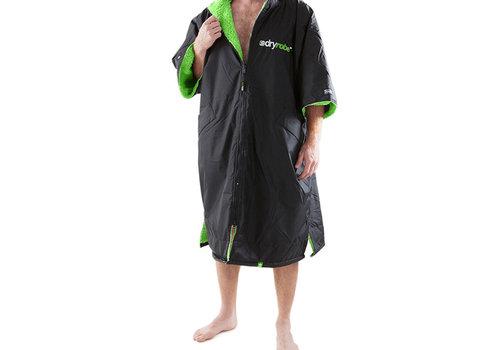 Dryrobe Shortsleeve Zwart-Groen-L