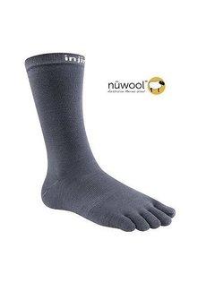 Injinji Injinji Liner Crew Nuwool Charcoal Toe Socks