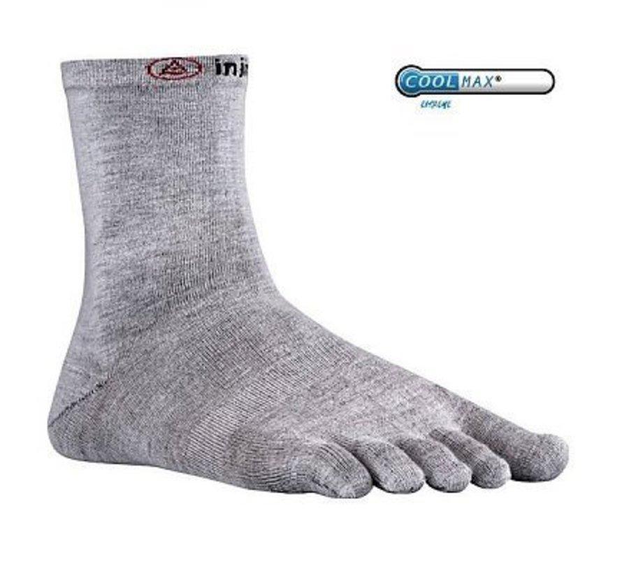 Injinji Liner Crew Coolmax Gray Toe Socks