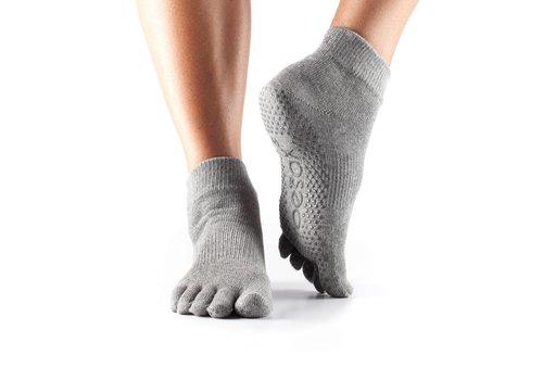 Toesox Ankle Grip Full Toe Grijs