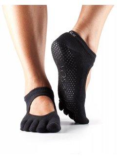 Toesox Toesox Bellarina Grip Full Toe Black