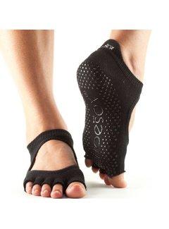 Toesox Toesox Bellarina Grip Half Toe Black
