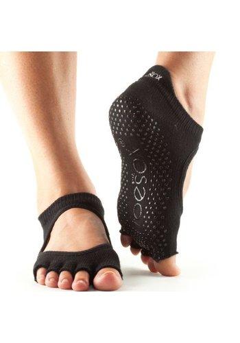 Toesox Toesox Bellarina Grip Half Toe Zwart