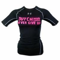 Dutch Mud Chicks Teamshirt Under Armour Compression Schwarz