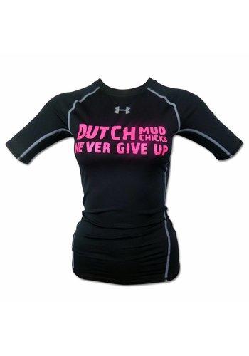 Dutch Mud Men Dutch Mud Chicks Teamshirt Under Armour Compressie Zwart