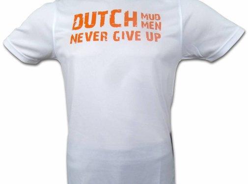 Dutch Mud Men Dutch Mud Men Skull Sportshirt Wit