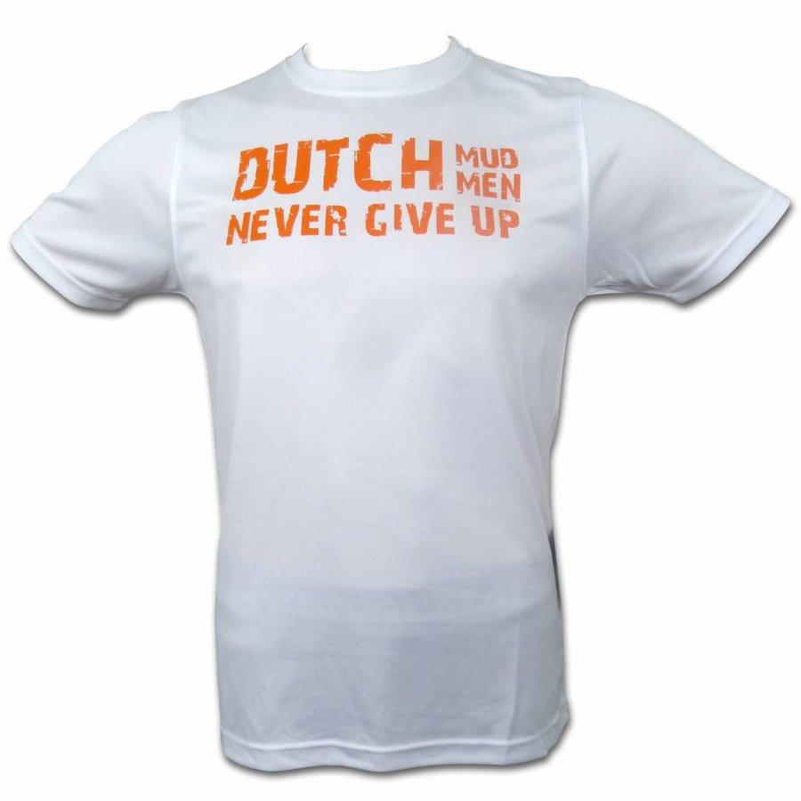 Dutch Mud Men Skull Sportshirt Weiß