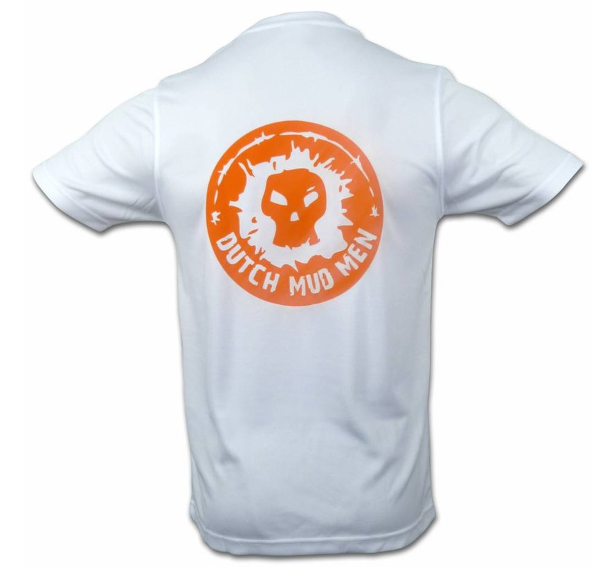 Dutch Mud Men Skull Sportshirt White
