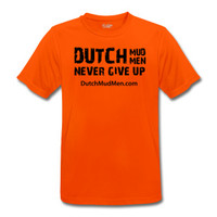 Dutch Mud Men Skull Sportshirt Orange