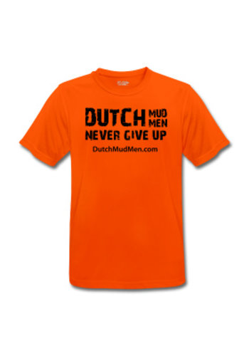 Dutch Mud Men Dutch Mud Men Skull Sportshirt Oranje