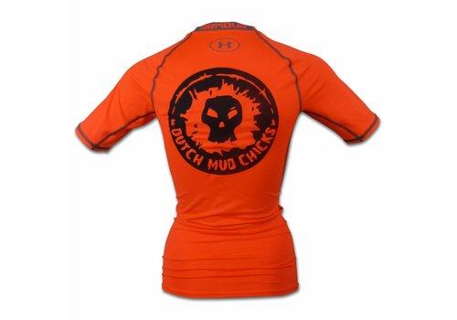 Dutch Mud Chicks Teamshirt Under Armour Compressie Oranje