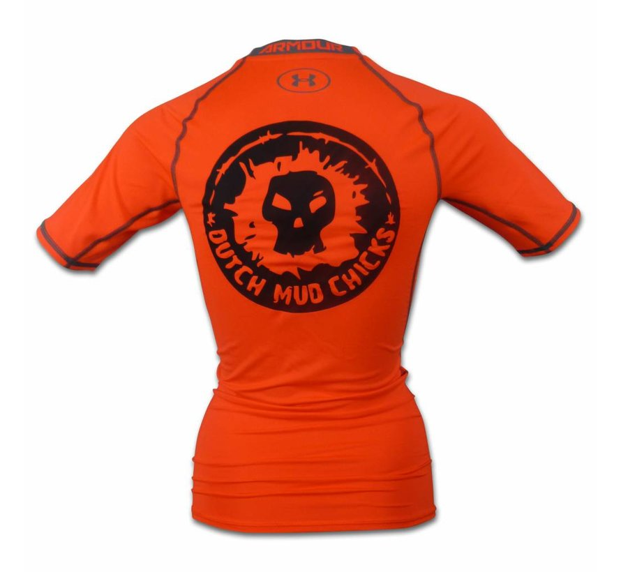 Dutch Mud Chicks Teamshirt Under Armor Compression Orange