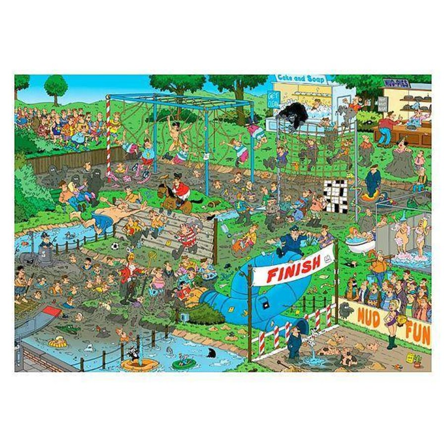Mud race puzzle