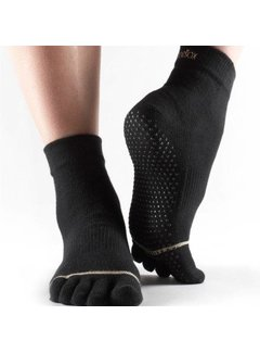 Toesox Toesox Ankle Grip Full Toe Black