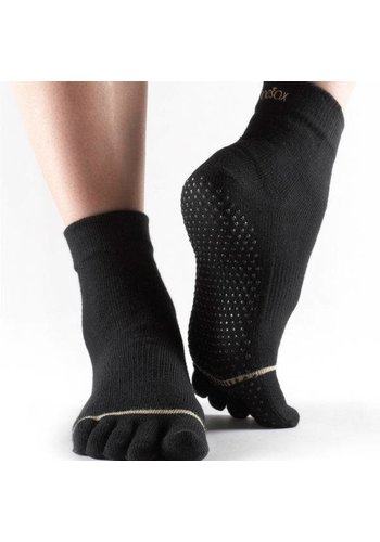 Toesox Toesox Ankle Grip Full Toe Zwart