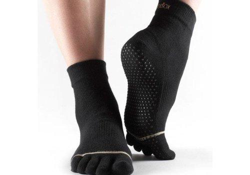Toesox Ankle Grip Full Toe Zwart