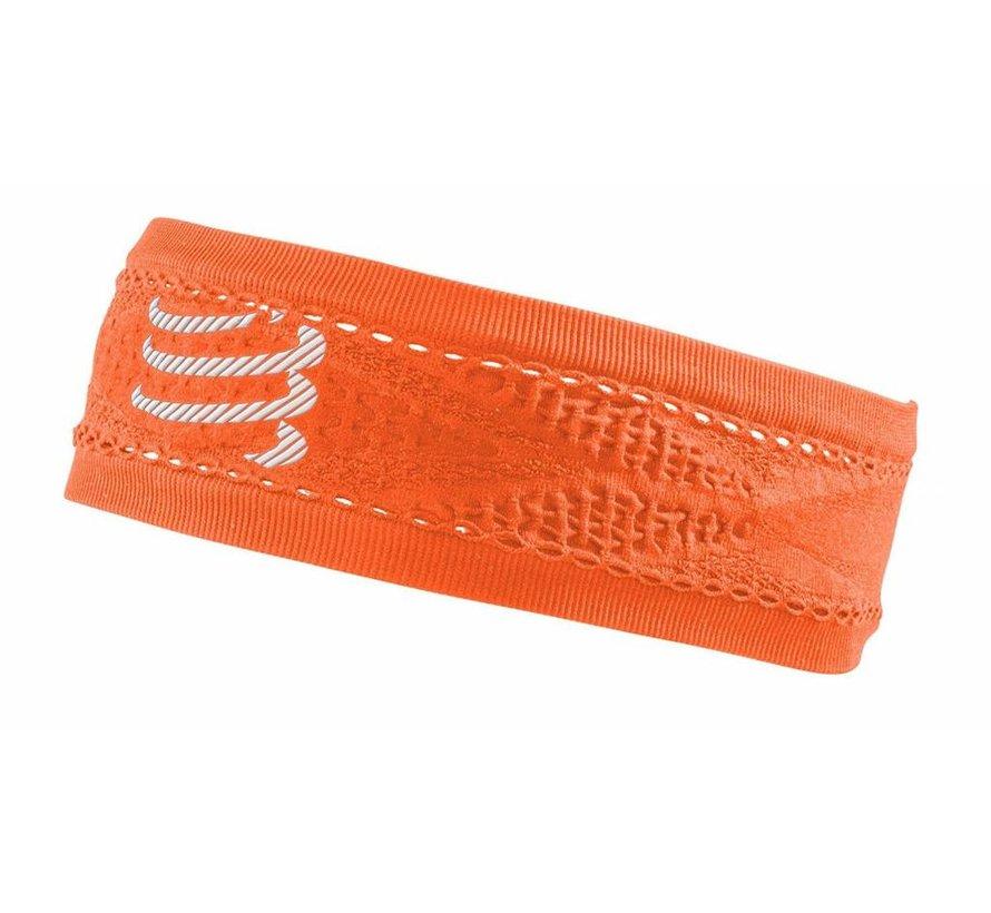 Compressport schmales Stirnband On / Off Orange