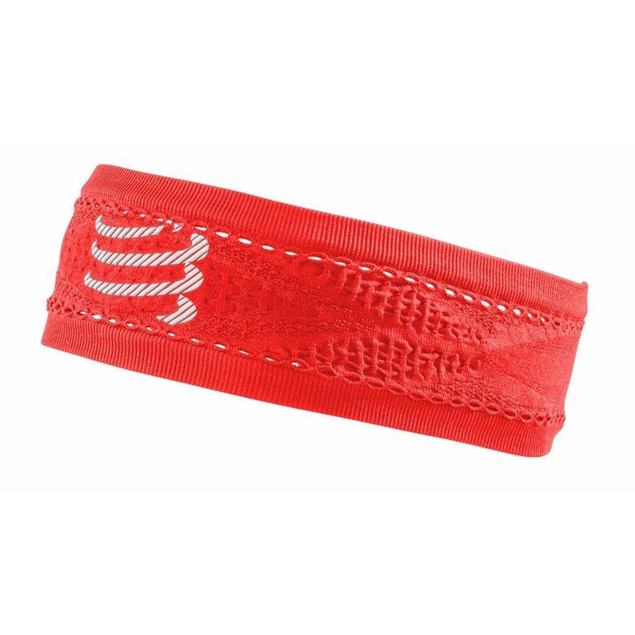 Compressport schmales Stirnband On / Off Red