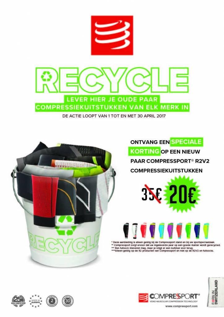 Recycle Actie! Compressport tubes voor maar 20 euro.