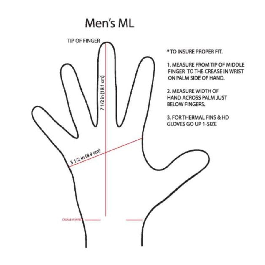 Darkfin Black OPS Gloves Men