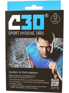 C30 C30 Sport Hygiene Tabs Sport Detergent (12 pieces)