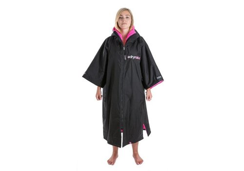 Dryrobe Shortsleeve Zwart-Roze