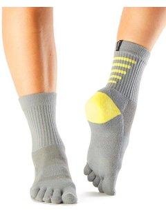 Toe Sox Toesox crew gray / yellow