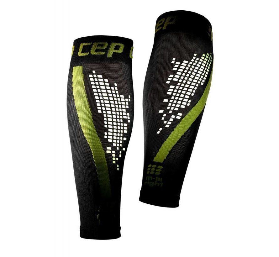 CEP nighttech calf sleeves, green, women
