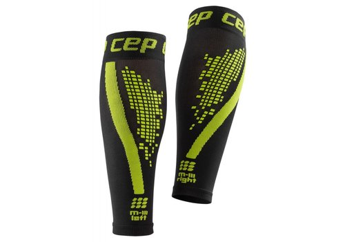 CEP nighttech calf sleeves, green, women