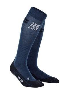 CEP CEP Pro + Run Merino Socken, Navy / Schwarz, Damen