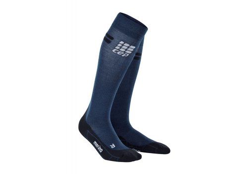 CEP pro + run merino socks, navy / black, women