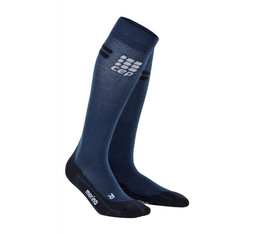 CEP pro + run merino socks, navy / black, women