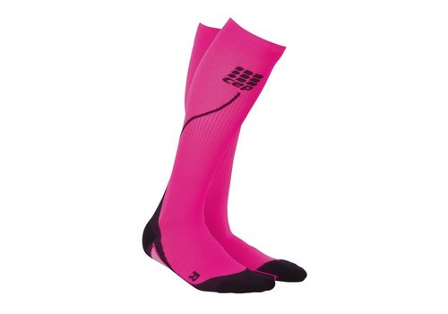 CEP pro + run socks 2.0, pink / black, women