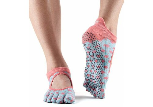 Toesox Bellarina Grip Full Toe Flamingo